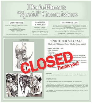 + SPECIAL COMMISSIONS (Closed) +