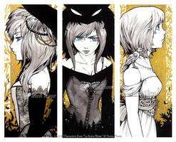 :Inktober: Fate, Struggle and Wish by Doria-Plume
