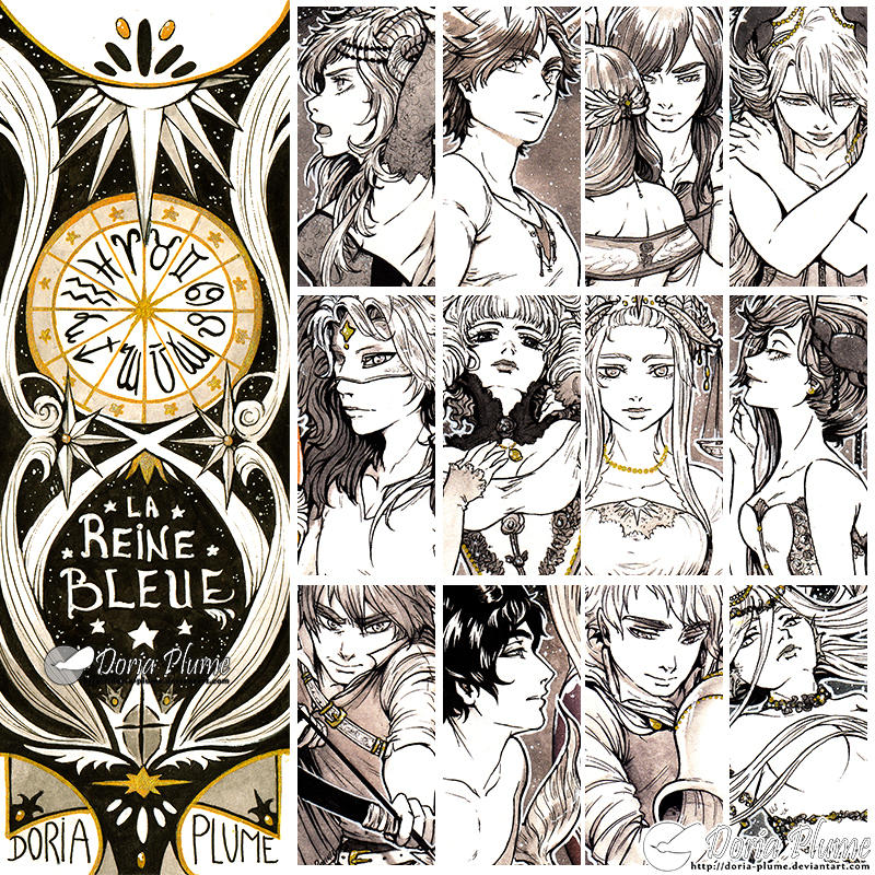 :Inktober: ZODIAC PREVIEW [AVAILABLE ON MY SHOP!]