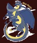 T-Shirt Design - Blue Hasia