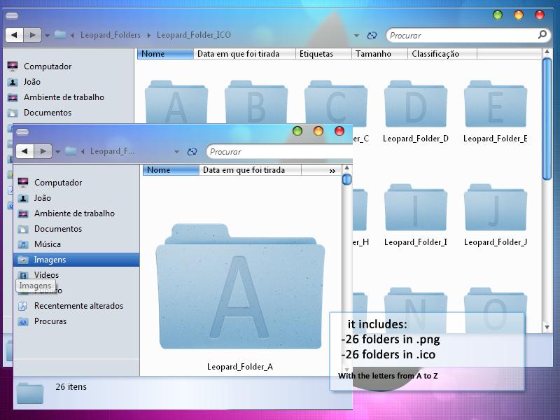 Leopard Folders A-Z plus extra