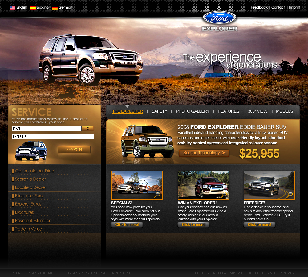 Ford Explorer Website by Carl06