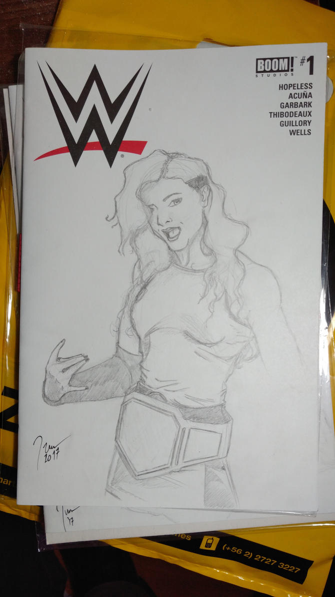 WWE Sketch Cover Becky Lynch by KRStudio