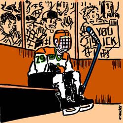 [OC] Ferda Boys A Gordie Howe Hat Trick cover art by hockeywebcomics