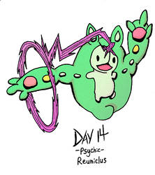 Reuniclus Day 14 Psychic by Redcavalier