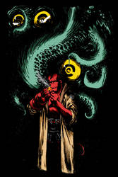 Hellboy by Jeff Stokely by Redcavalier