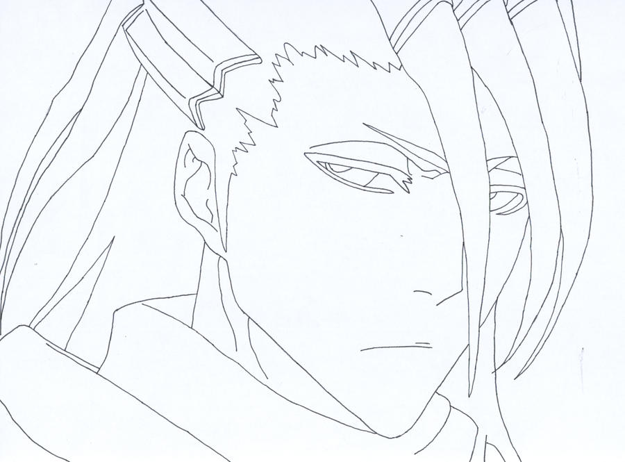 Bleach byakuya lineart by ixcutioni on deviantart for Bleach color pages
