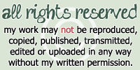 'All Rights Reserved' Copyright Stamp + Plz Acct.