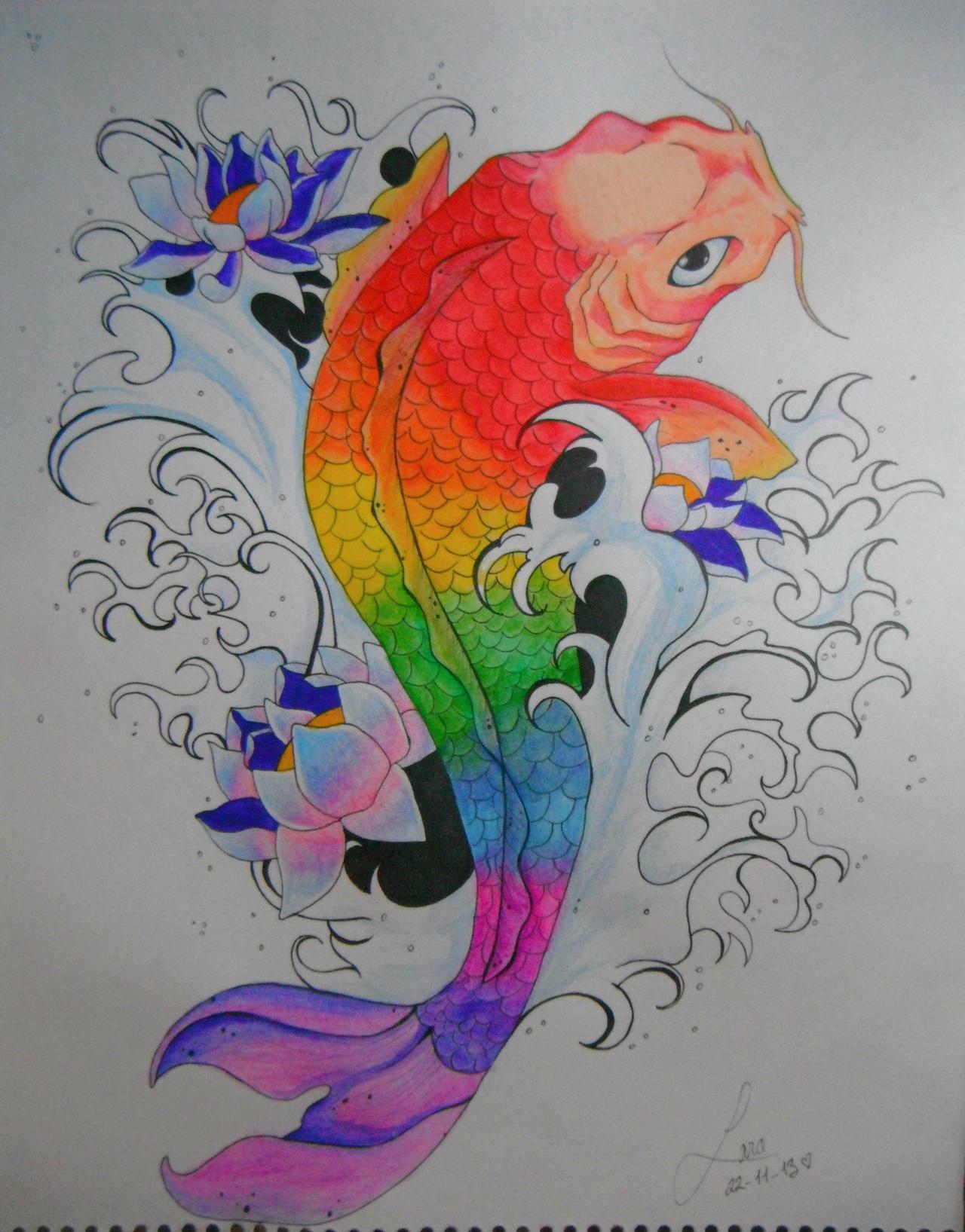 Dibujos Pez Koi Para Tatuajes