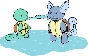 Wartortle and Squirtle by Iggysaur