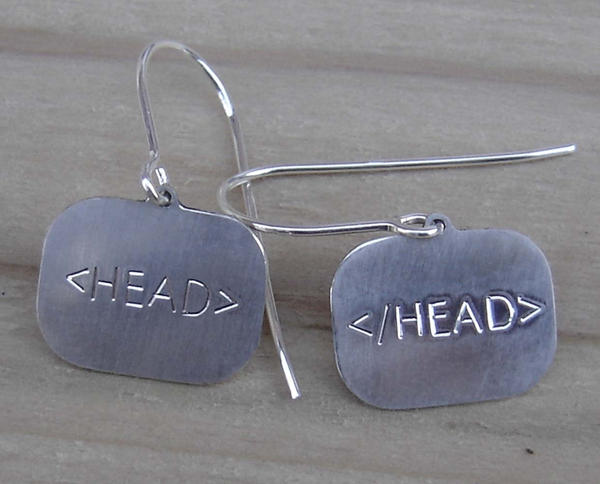 HTML earrings by nicholasandfelice