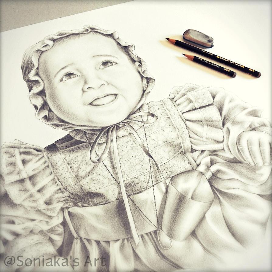 Baby's portrait by Soniaka