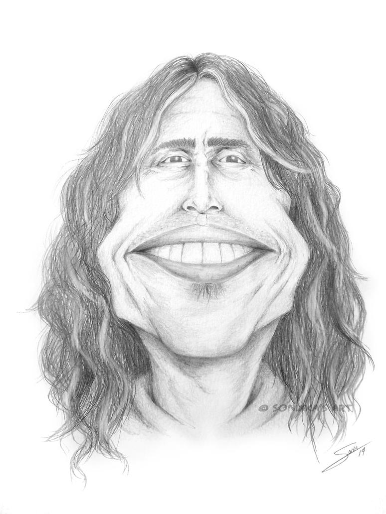 Caricature of Steven Tyler by Soniaka