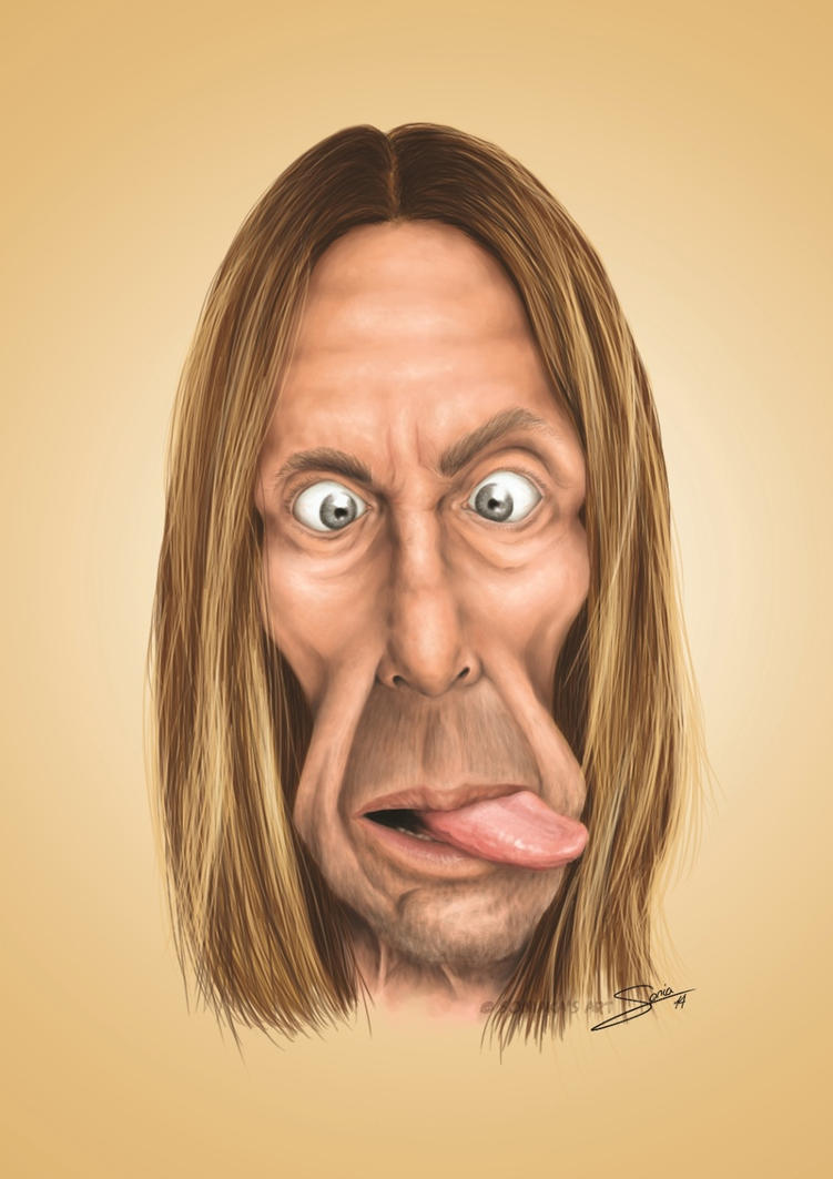 Caricature of Iggy Pop by Soniaka
