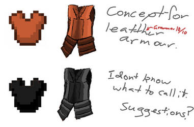 leather armour concept for my comic by TheEnderRebel