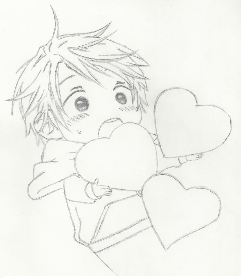 Chibi Boy with Hearts by Britin513 on DeviantArt
