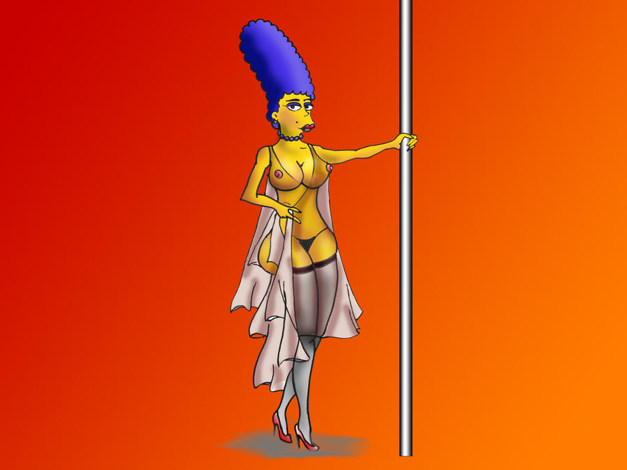 marge simpson in nylons