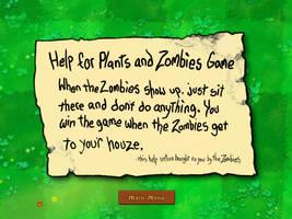 Plants vs Zombies Help by weeyo24x