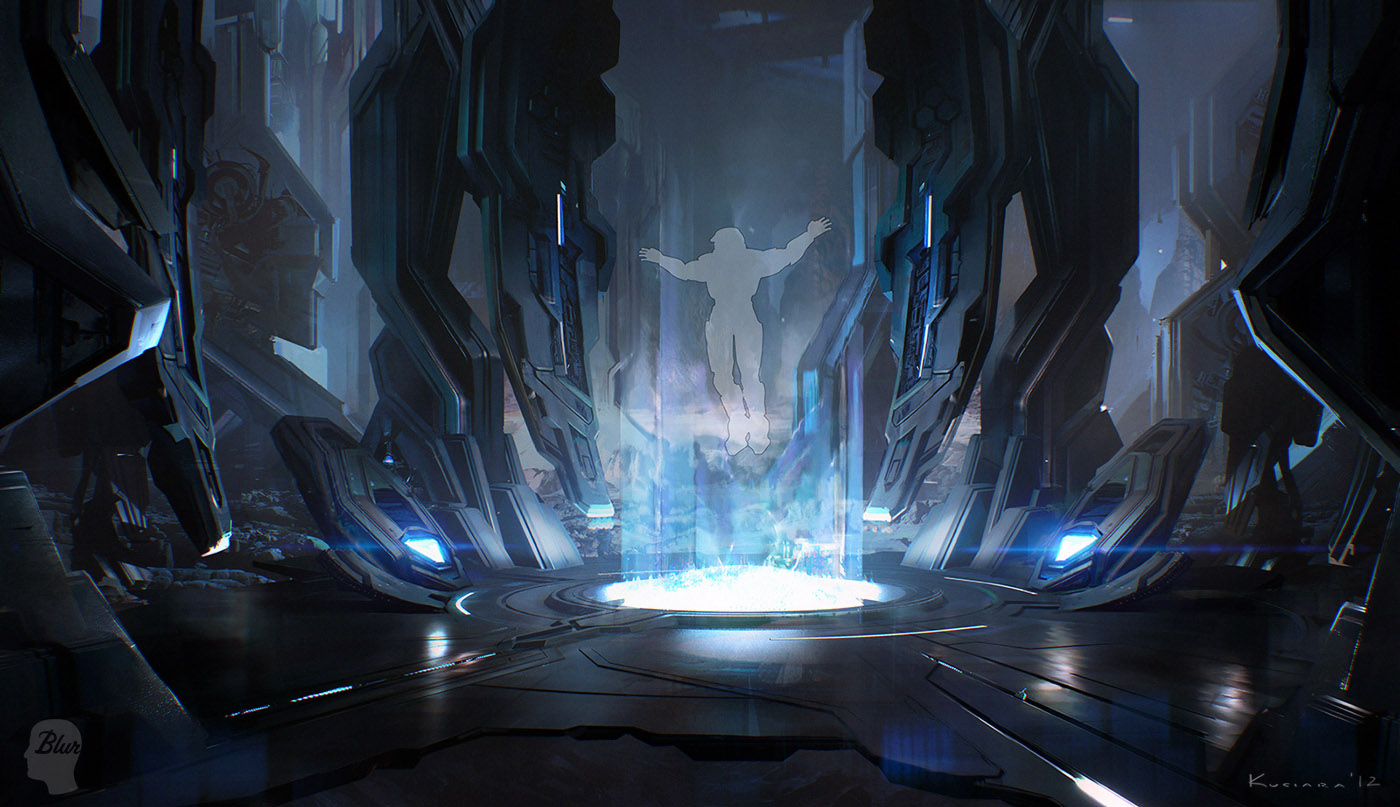 Halo 4 official launch trailer concept art by maciejkuciara