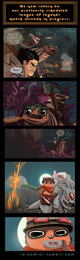 A Teemo Comic camouflaged as a League Comic