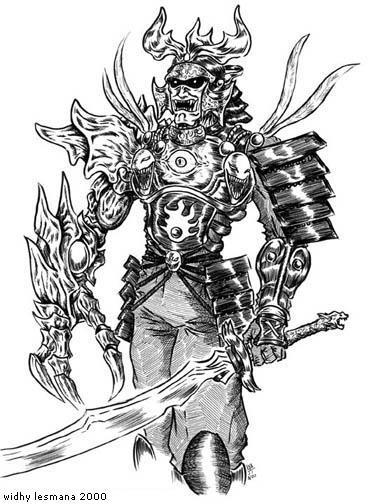 demon samurai by wlesmana on deviantart
