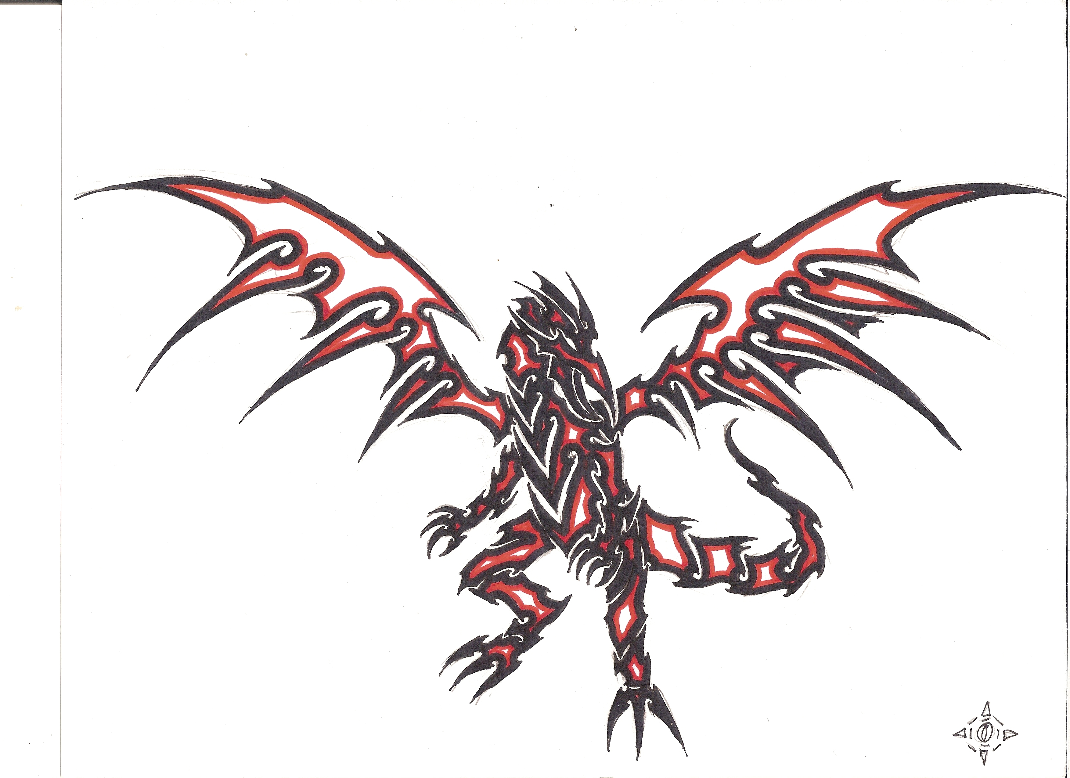 Red Eyes Black Dragontribal By Penryck13