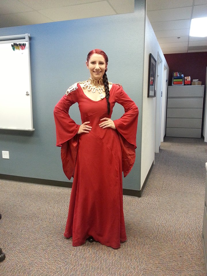 Game of Thrones The Red Witch Melisandre Gown Dress Halloween ...