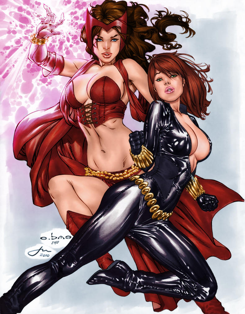 Scarlet Witch and Black Widow by penichet