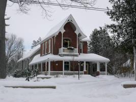 Winter Cottage III by Jezhawk-stock