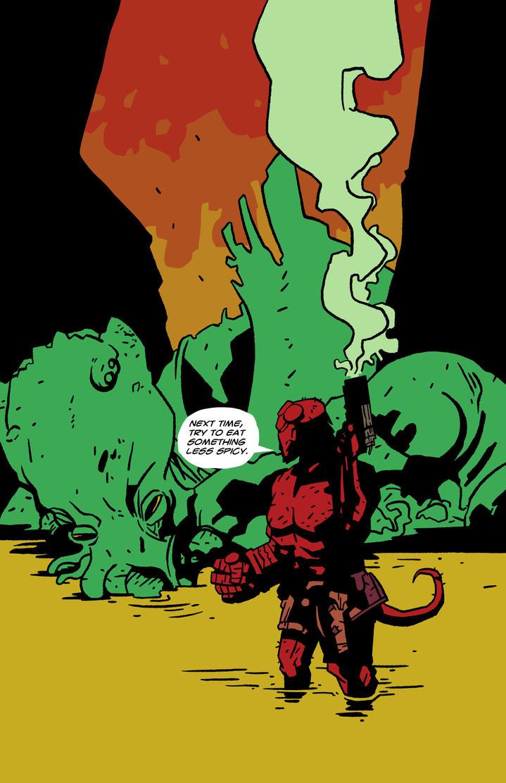 Hellboy meets Cthuhlu 2 by 007Alfredo