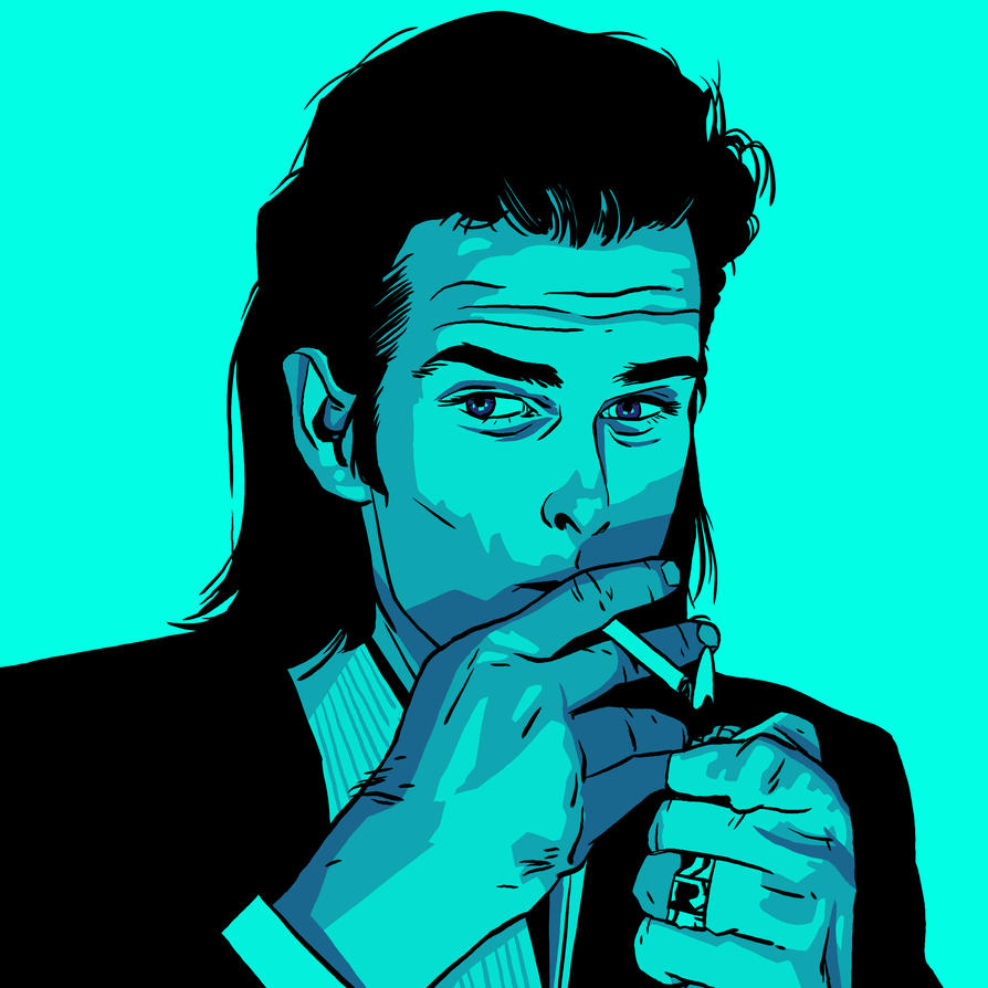 Nick Cave portrait commission by 007Alfredo