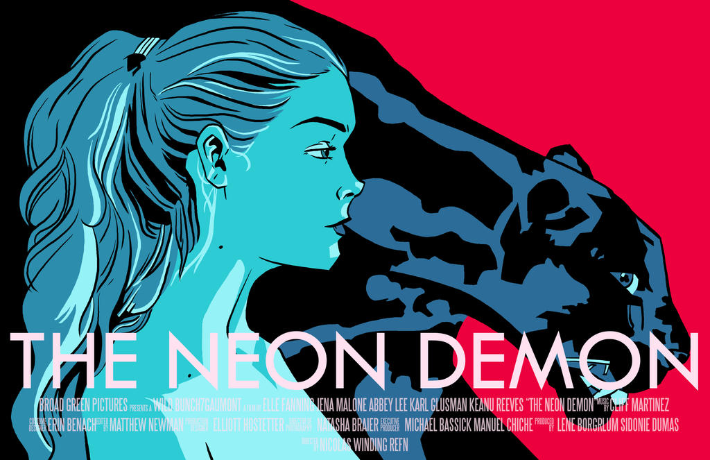 The Neon Demon commission by 007Alfredo