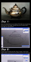 Painting a Teapot in Photoshop Tutorial