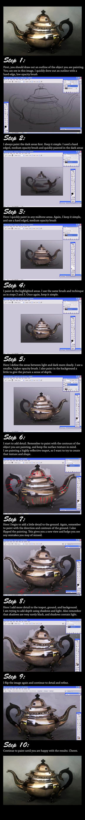 Painting a Teapot in Photoshop Tutorial by chewymonkey