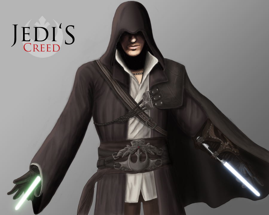 """My daily exercise routine"" Jedi__s_Creed__Ezio_Auditore_by_JackJasra"