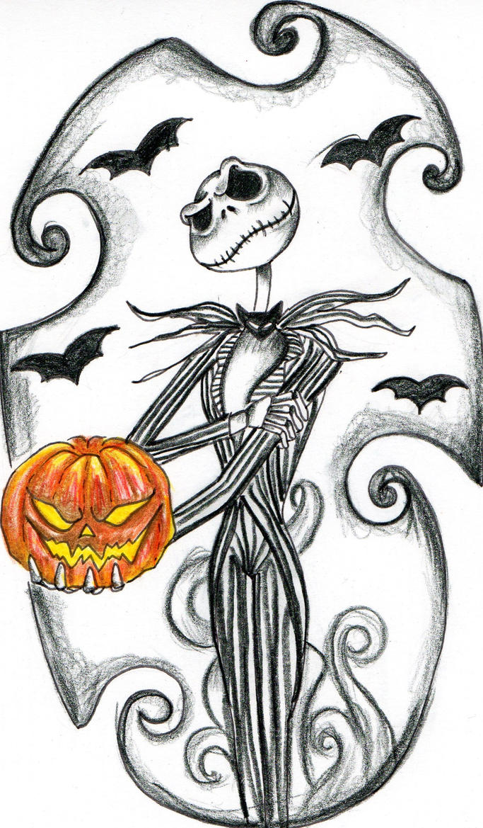 Jack skellington coloring pages free coloring pages for Jack the pumpkin king tattoo