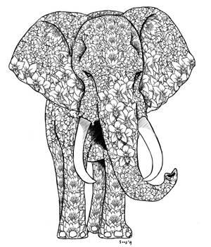 Tattoo request: Flowery Elephant