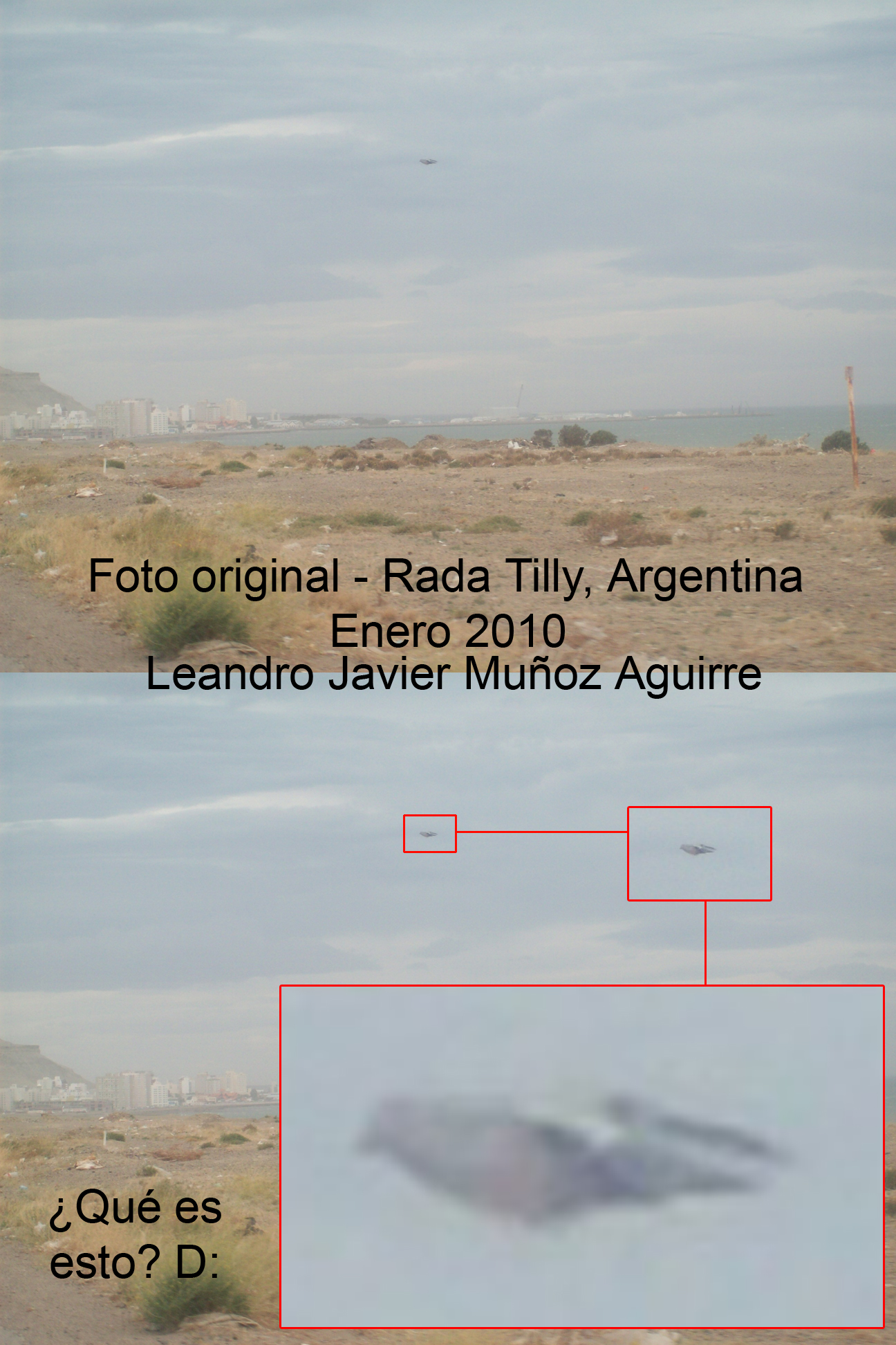 OVNI en Rada Tilly Argentina by rEaNzUrO
