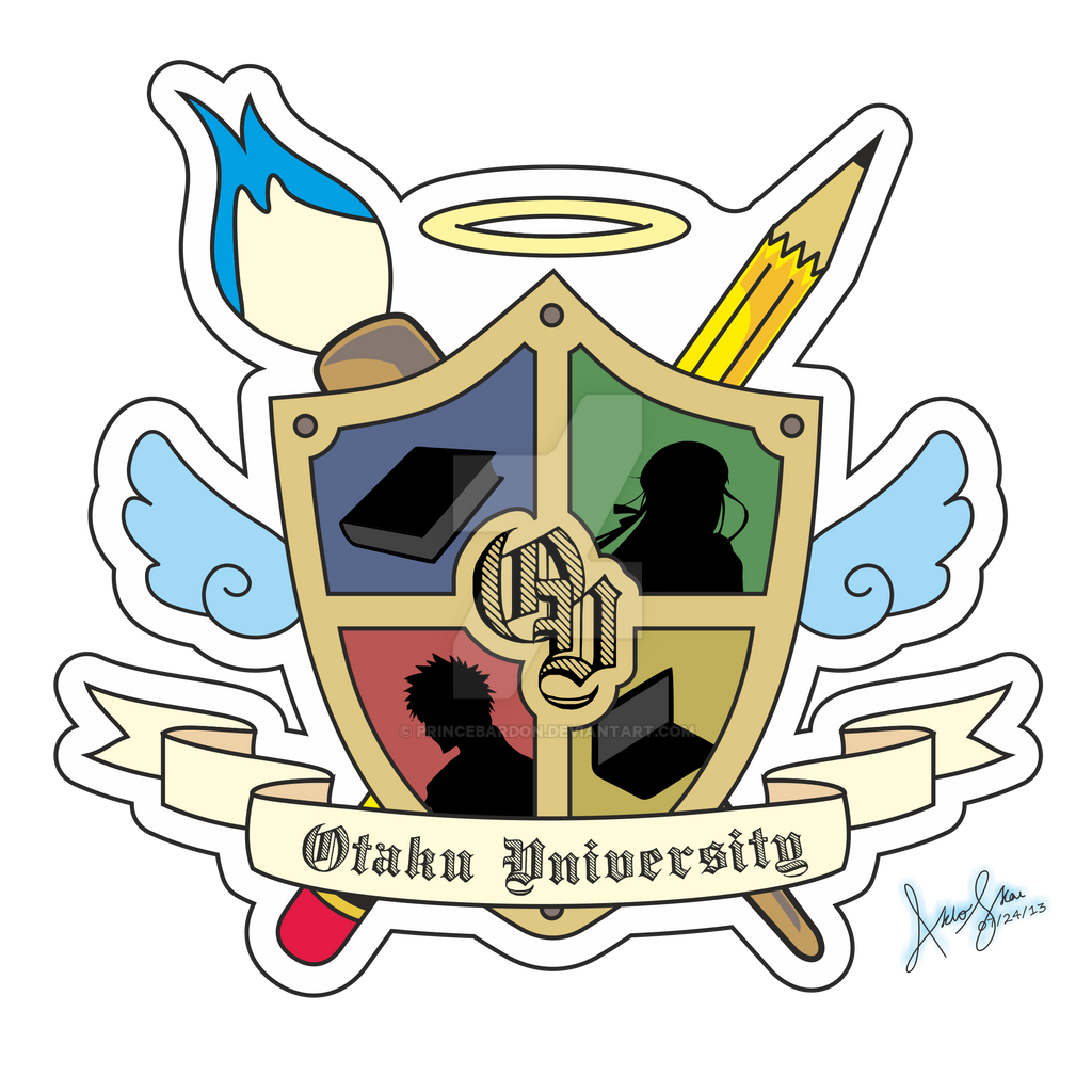 Otaku University Logo Version 2 by princebardon