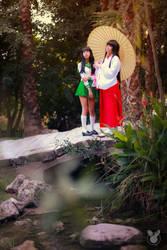 Kagome and Kikyo cosplay IV
