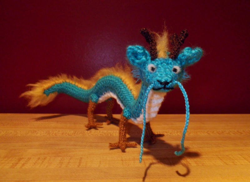 Crochet Amigurumi Dragon : Dragon amigurumi by silvertwilight on deviantart
