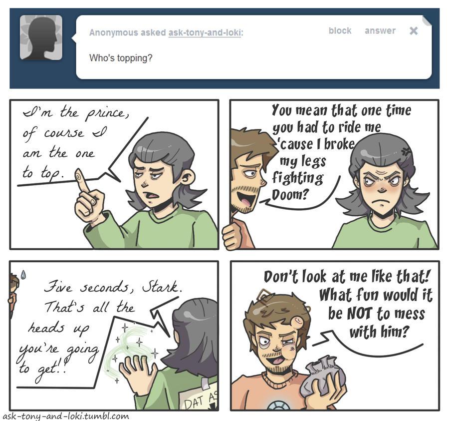 floradelaney | Ask Tony and Loki Tumblr