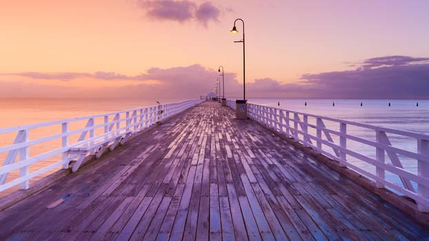 Walking to horizon