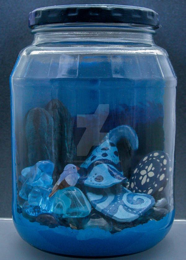 Colour Jars Blue by KatarniaHolbart