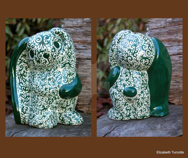 Green Scribble Bunny by KatarniaHolbart