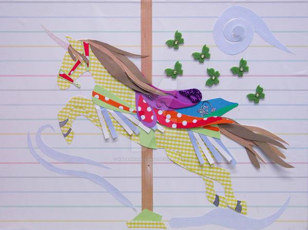 Carousel Unicorn Collage by KatarniaHolbart