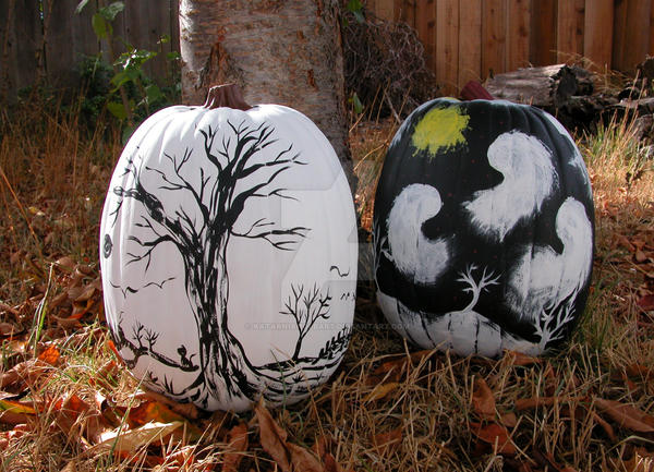 Pumpkin Paintings by KatarniaHolbart