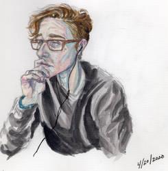 Self Portrait, Watercolor Sketch