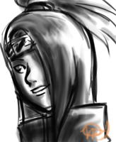 Naruto - Deidara Sketchie by arseniic