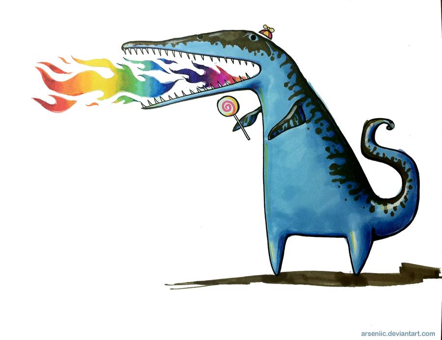 Liopleuroglottisaur-rex by arseniic